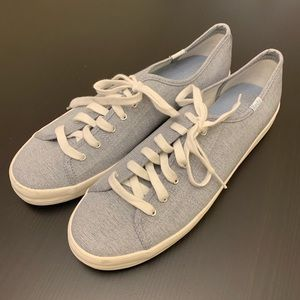 Keds Baby Blue White Fabric Classic Sneakers